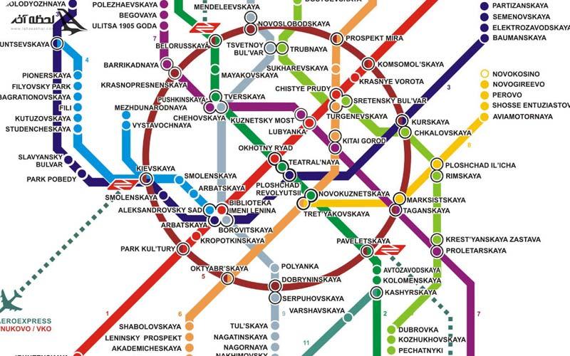 نقشه مترو مسکو