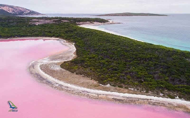 دریاچه معروف صورتی جهان