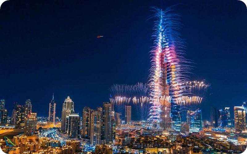 نورپردازی در برج دبی