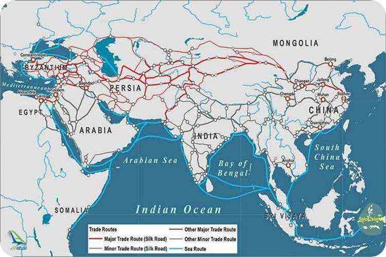 مسیر جاده ابریشم در ایران