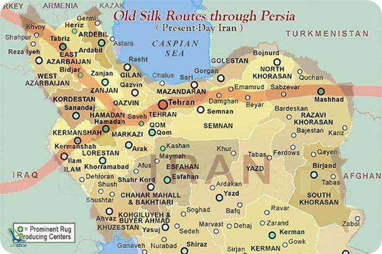 جاده ابریشم در ایران