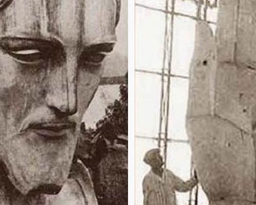 ساخت مجسمه مسیح